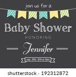 baby shower invitation card | Shutterstock .eps vector #192312872