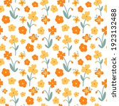 vector orange and yellow floral ... | Shutterstock .eps vector #1923132488