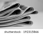 pile of newspapers  processed... | Shutterstock . vector #192315866