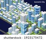isometric city vector.smart...   Shutterstock .eps vector #1923175472