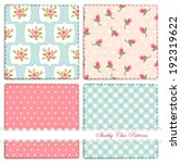 set of four cute retro patterns ... | Shutterstock .eps vector #192319622