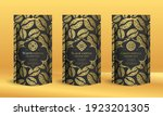 coffee packaging design with... | Shutterstock .eps vector #1923201305