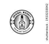 whiskey bottle badge logo... | Shutterstock .eps vector #1923233042