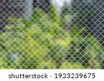 Close Up Of Wire Fence Or Metal ...