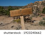 Wooden End Of Trail Sign In...