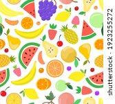vector fruit seamless pattern.... | Shutterstock .eps vector #1923255272