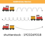 tracing lines for kids with... | Shutterstock .eps vector #1923269318