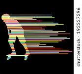 skateboarder silhouette vector... | Shutterstock .eps vector #192327296