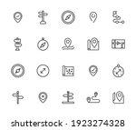 map line icons set. stroke... | Shutterstock .eps vector #1923274328