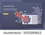 advanced setting concept...   Shutterstock .eps vector #1923285812