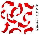 arrow web chart color vector... | Shutterstock .eps vector #192330542