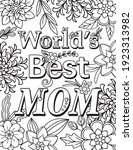 world's best mom font with... | Shutterstock .eps vector #1923313982