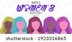 march is women history month ... | Shutterstock .eps vector #1923316865