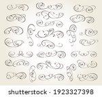 set of elegant floristic... | Shutterstock .eps vector #1923327398