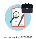 icon business briefcase black... | Shutterstock . vector #192332888