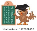 multiplication table 5. owl...   Shutterstock .eps vector #1923328952