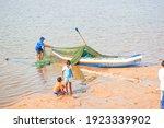 An Indian Fisherman Preparing...