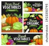 fresh vegetable food chalkboard ... | Shutterstock .eps vector #1923350795