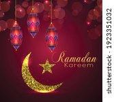 ramadan kareem islamic festival ... | Shutterstock .eps vector #1923351032