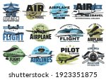 aviation show and airline...   Shutterstock .eps vector #1923351875