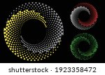 halftone round as icon or... | Shutterstock .eps vector #1923358472