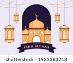 greeting happy isra mi'raj day... | Shutterstock .eps vector #1923363218