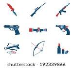 weapon symbols   Shutterstock .eps vector #192339866