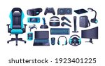 gaming accessories and... | Shutterstock .eps vector #1923401225