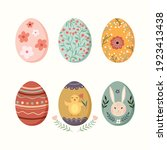 easter eggs collection... | Shutterstock .eps vector #1923413438