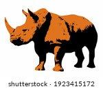 Isolated Illustration Of Rhino ....
