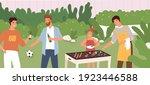 scene of people at outdoor... | Shutterstock .eps vector #1923446588