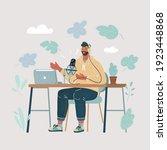 cartoon vector illustration of... | Shutterstock .eps vector #1923448868