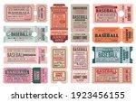baseball sport game retro... | Shutterstock .eps vector #1923456155