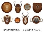 hunting trophies  wild animal... | Shutterstock .eps vector #1923457178