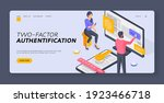 two factor authentification...   Shutterstock .eps vector #1923466718