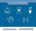coronavirus prevention and... | Shutterstock .eps vector #1923504998