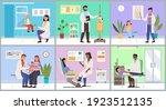 set of illustrations on the... | Shutterstock .eps vector #1923512135