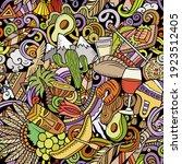 cartoon doodles chile seamless... | Shutterstock .eps vector #1923512405