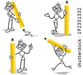 vector stick figure set ...   Shutterstock .eps vector #192351332