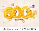 600k or 600000 followers thank... | Shutterstock .eps vector #1923548885