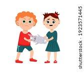naughty child behavior. the kid ...   Shutterstock .eps vector #1923571445