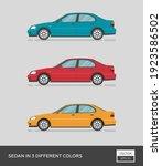 urban vehicle. sedan in 3... | Shutterstock .eps vector #1923586502