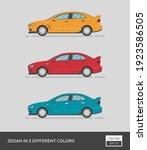 urban vehicle. sedan in 3... | Shutterstock .eps vector #1923586505
