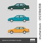 urban vehicle. sedan in 3... | Shutterstock .eps vector #1923586508