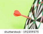 darts arrows in the target... | Shutterstock . vector #192359375