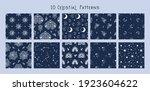 celestial black and white moon  ... | Shutterstock .eps vector #1923604622