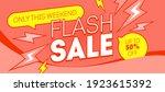 flash sale red banner design.... | Shutterstock .eps vector #1923615392