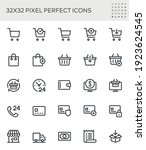 shopping cart  shopping basket  ... | Shutterstock .eps vector #1923624545