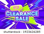clearance sale violet banner.... | Shutterstock .eps vector #1923626285