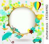 bright summer vector background | Shutterstock .eps vector #192364982